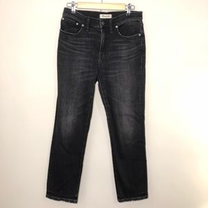 Madewell Faded Black Cruiser Straight Jeans